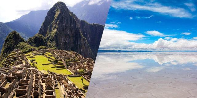 世界遺産と大自然の旅 マチュ・ピチュ遺跡とウユニ塩湖