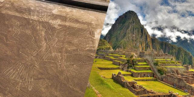 ナスカの地上絵とマチュ・ピチュ遺跡